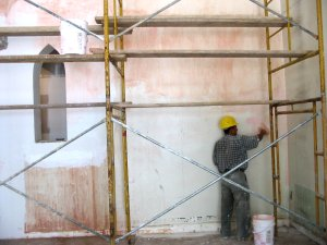Plaster over                   painted surfaces
